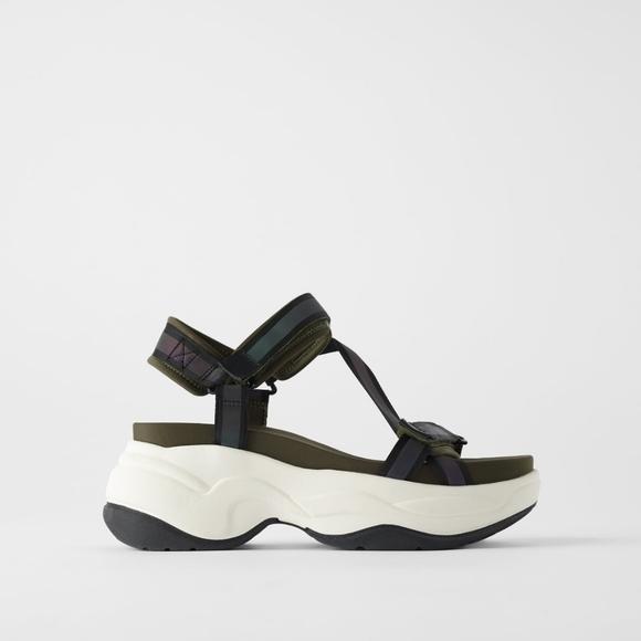 platform athletic sandals